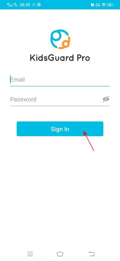 klik sign in