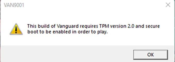 Valorant Windows 11 TPM