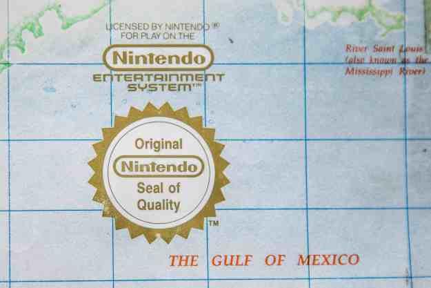 Nintendo Seal of Quality auf der Karte von Pirates!