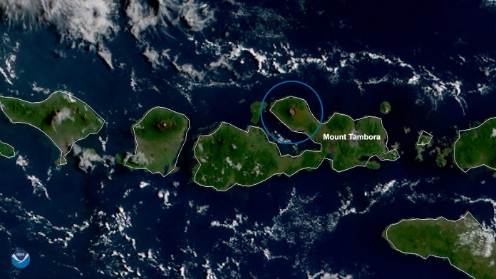 This Day In History Mount Tambora Explosively Erupts In 1815 Noaa National Environmental Satellite Data And Information Service Nesdis