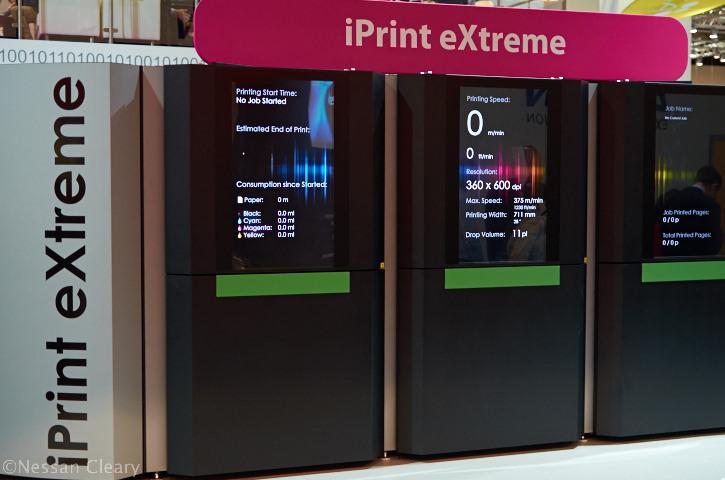 Impika's iPrint eXtreme inkjet printer, seen here at the Drupa 2012 show.
