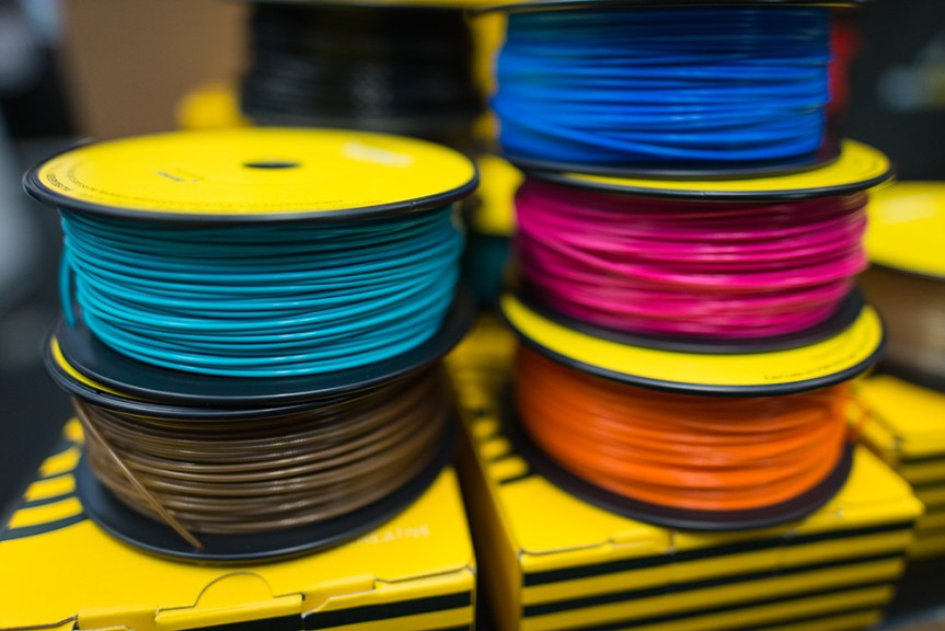 The PLA plastic filament as used in the Bee free printers.