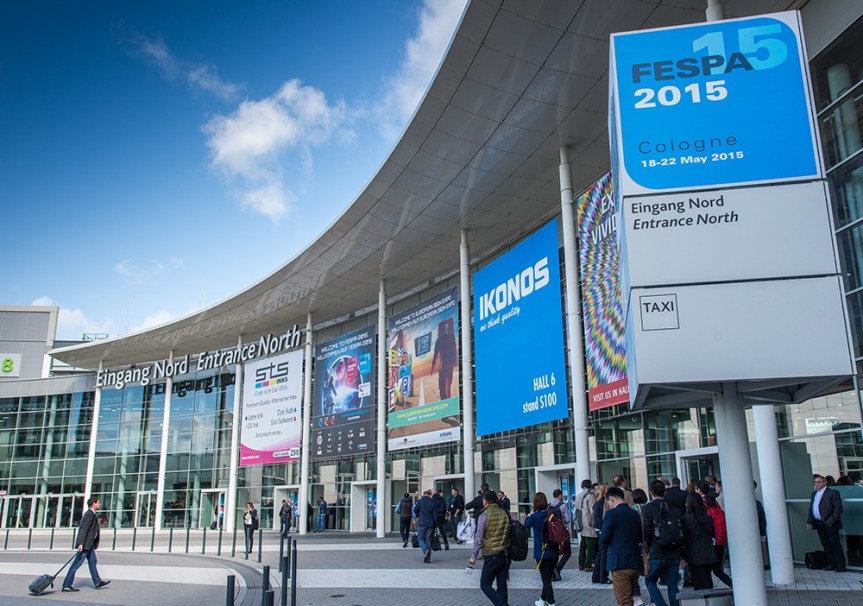 The North entrance to Koln Messe for the Fespa 2015 show.