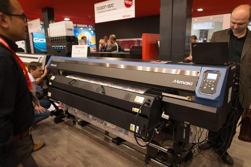 Mimaki TS300 dye sublimation printer.