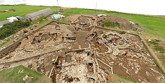 An aerial view of the excavation site, captured from Ken Stuart's incredible 3d panorama.