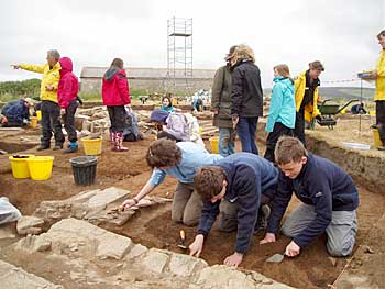 The next generation of new eager archaeologists at todays excavation club