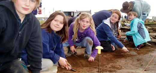 Young archaeologists in the making.