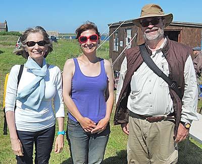 Antonia (centre) with our Spanish visitors Mimi and Rodrigo.