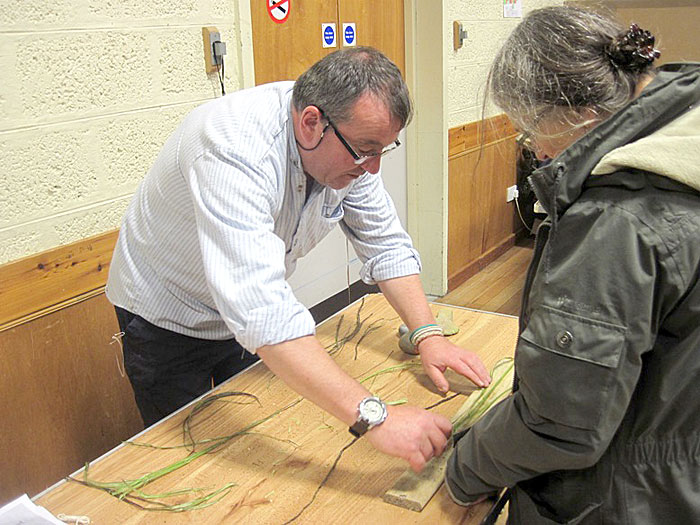 Mark Cook reveals the wonders of nettle string-making - remarkably strong.