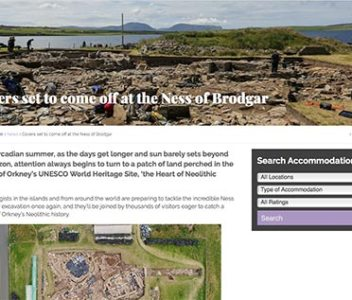 'Covers set to come off at the Ness of Brodgar'