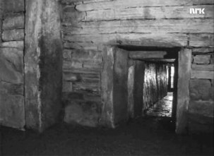 The entrance to Maeshowe in 1966.