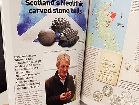 Considering carved stone balls in British Archaeology issue 165. (Pic: Hugo Anderson-Whymark)