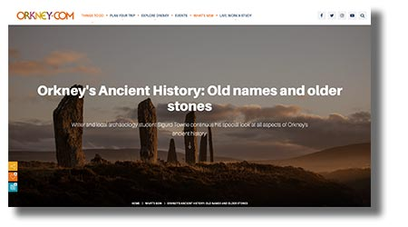Orkney.com screenshot