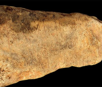 Dig Diary Extra – 3D model of yesterday's decorated stone