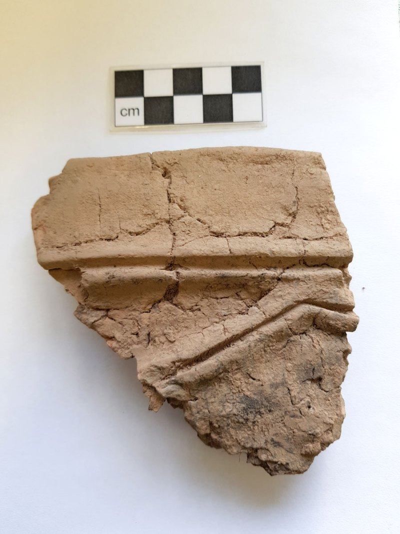 Decorated Grooved Ware Pottery Sherd