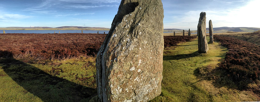 The Ring of Brodgar with the Loch of Harray in the background. (Sigurd Towrie)