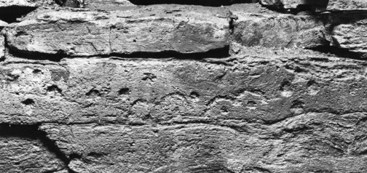 The eyebrow motif at the Holm of Papay South chambered cairn. (https://canmore.org.uk/collection/2003579)