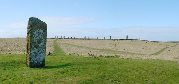 Comet Stone and Ring of Brodgar. 2000. (Sigurd Towrie)