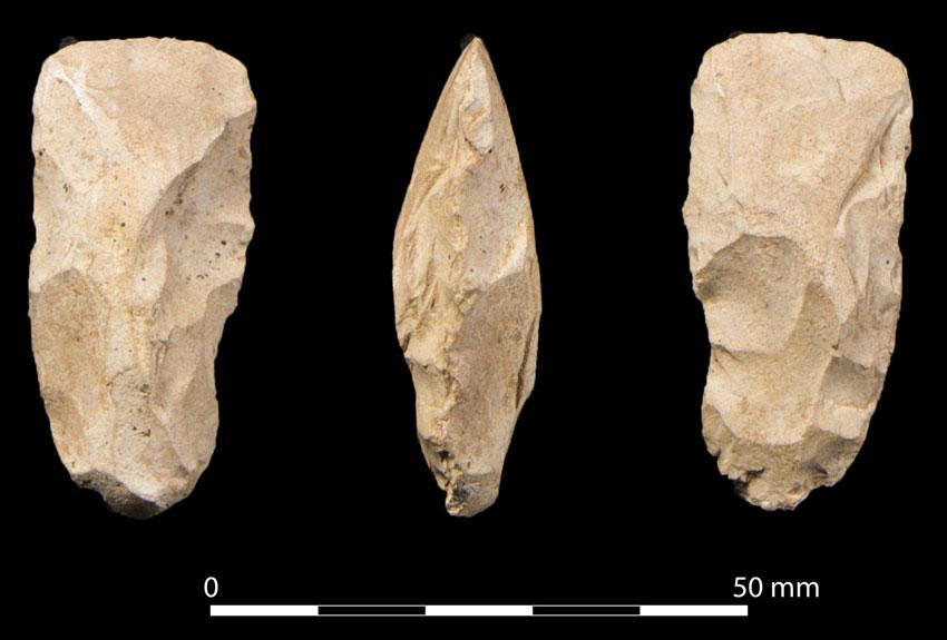 2012: The miniature flint axehead. (Woody Musgrove)