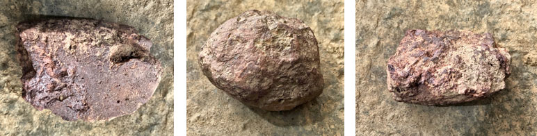 """""""Rough"""" haematite examples."""