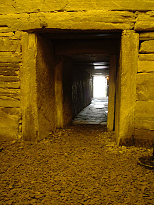 Maeshowe entrance passage from the interior. (Sigurd Towrie)