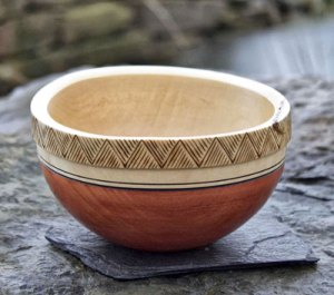Unstan Ware-inspired sycamore bowl.