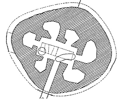 Plan of the Quoyness chambered cairn, Sanday, Orkney.
