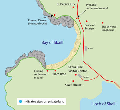 Bay of Skaill small map