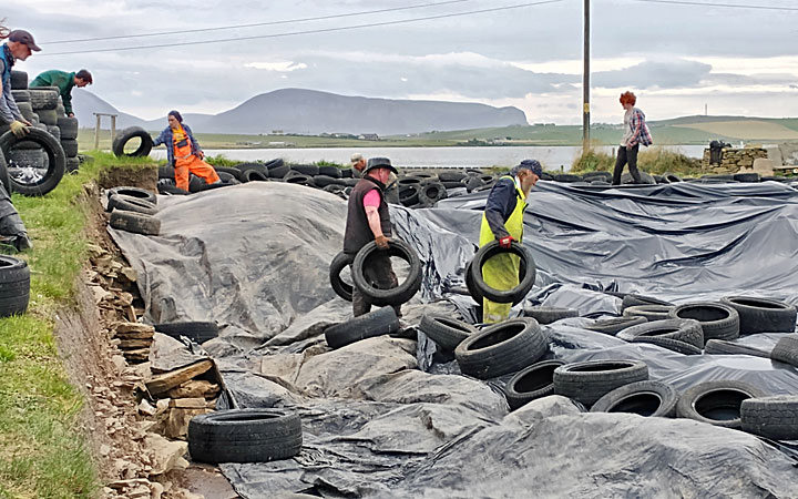 3.35pm. In come the first of the tyres. (Sinead Marshall)