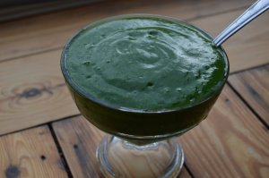 green sorbet smoothie