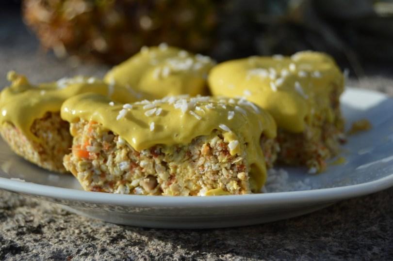 Tropical Lemon Cake - No Bake and Raw
