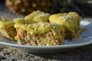 Tropical Lemon Cake - No Bake and Raw