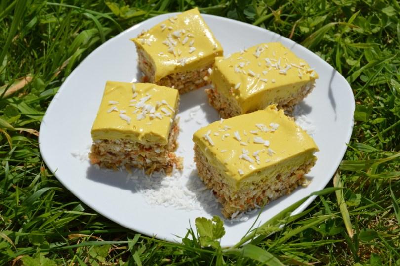 tropical lemon cake on a plate