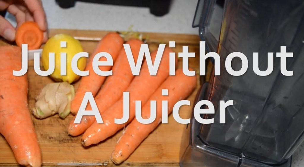 juice without a juicer using a blender