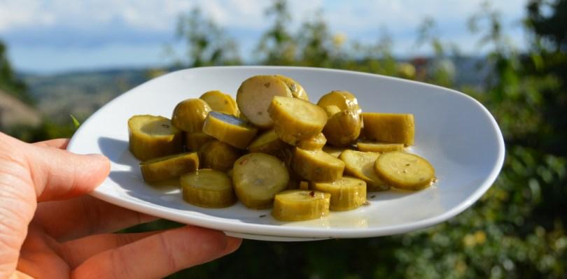 24 Hour Pickled Gherkins