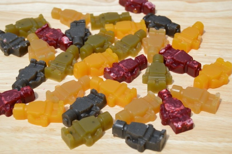 Fruit Juice Jelly Sweets on a board