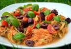 Creamy tomato Courgette Spaghetti