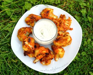 Gluten Free Cauliflower Wings With Raw Ranch