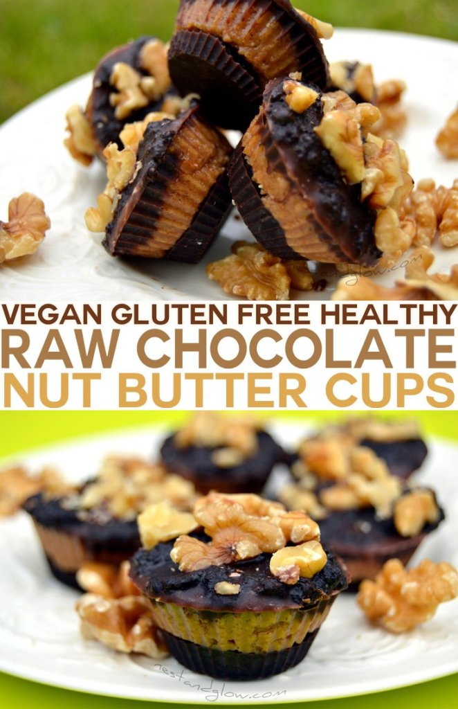 Vegan Gluten Free Raw Chocolate Almond Nut Butter Cups Recipe