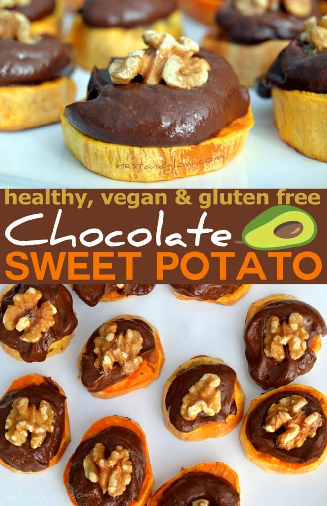 Chocolate Avocado Sweet Potato Bites