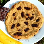 3 Ingredient Giant Healthy Chocolate Chip Cookie