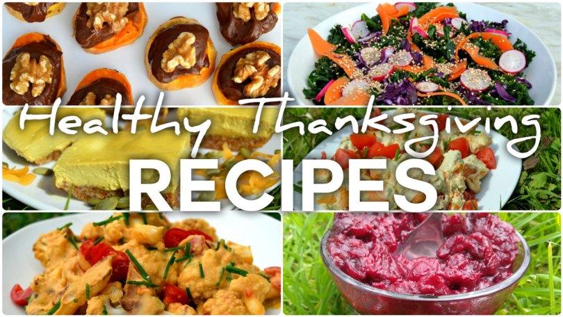 Healthy Gluten Free Vegan Thanksgiving recipes