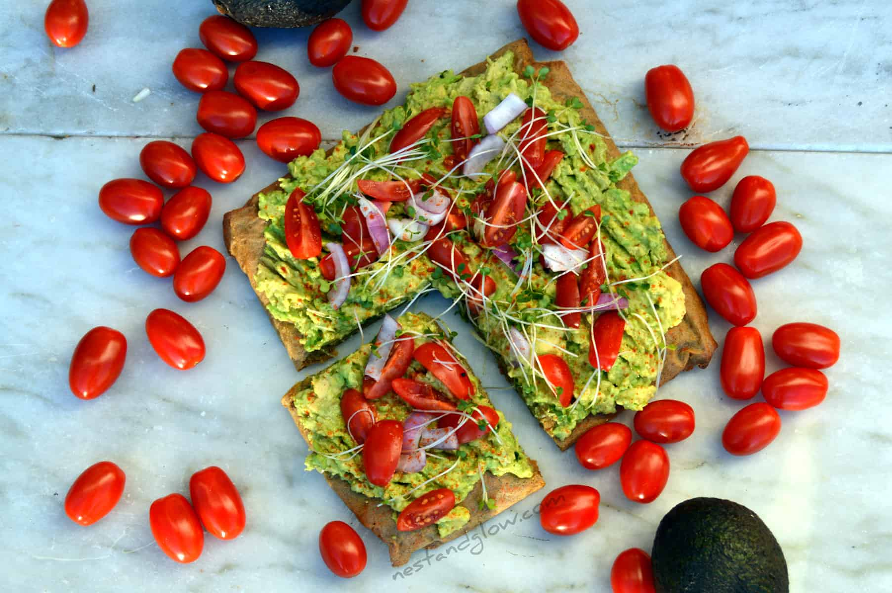 Avocado Toast on Quinoa Bread