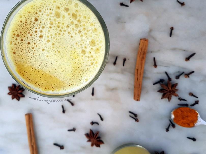 Golden Cashew Turmeric Milk Easy Recipe