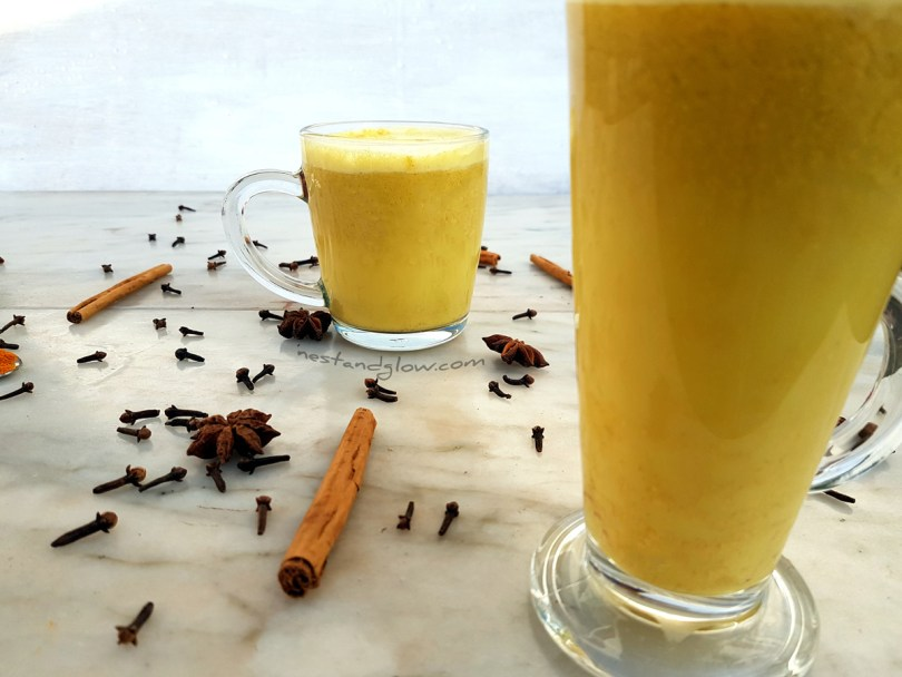 Golden Cashew Turmeric Milk Vegan Recipe