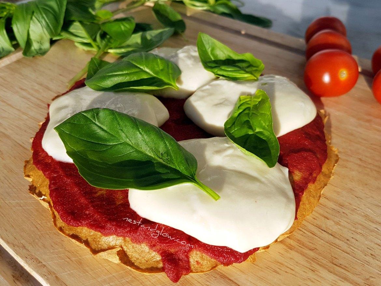 Cashew Mozzarella Quinoa Crust Pizza Vegan Recipe