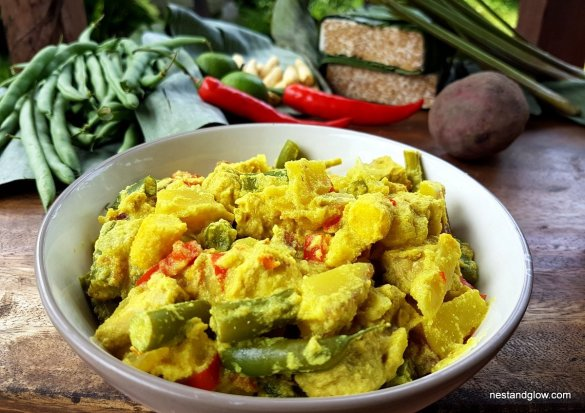 Golden Tempeh Curry with Coconut & Sweet Potato Recipe