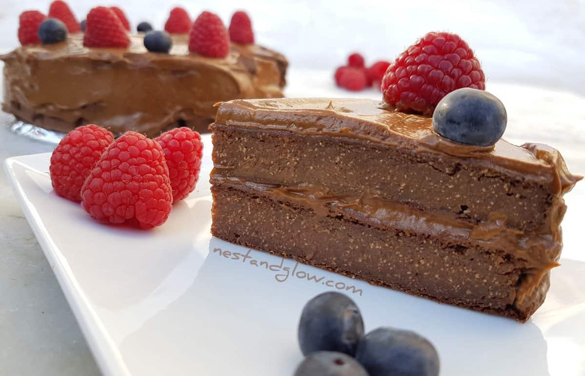 Vegan Quinoa Chocolate Cake With Avocado Frosting Flour