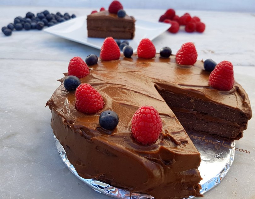 Chocolate Quinoa Cake Avocado Icing