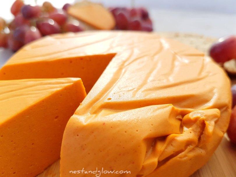Smoked Cashew Vegan Cheese Close up